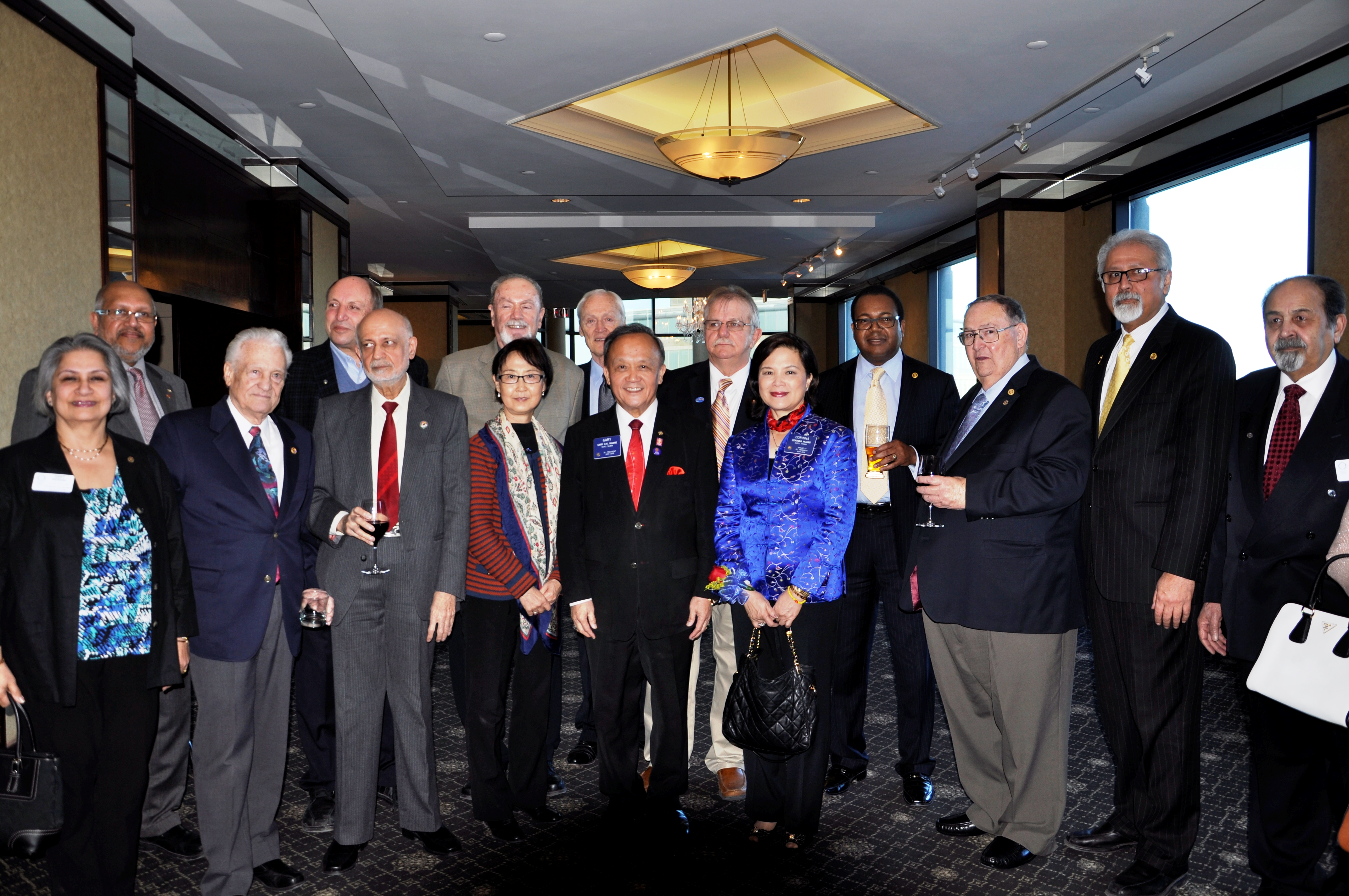 Rotary International President Gary Huang with some of the members of the Richmond Hill Rotary Club