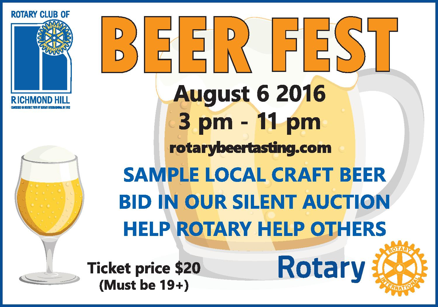 Richmond Hill Rotary Craft Beer Festival