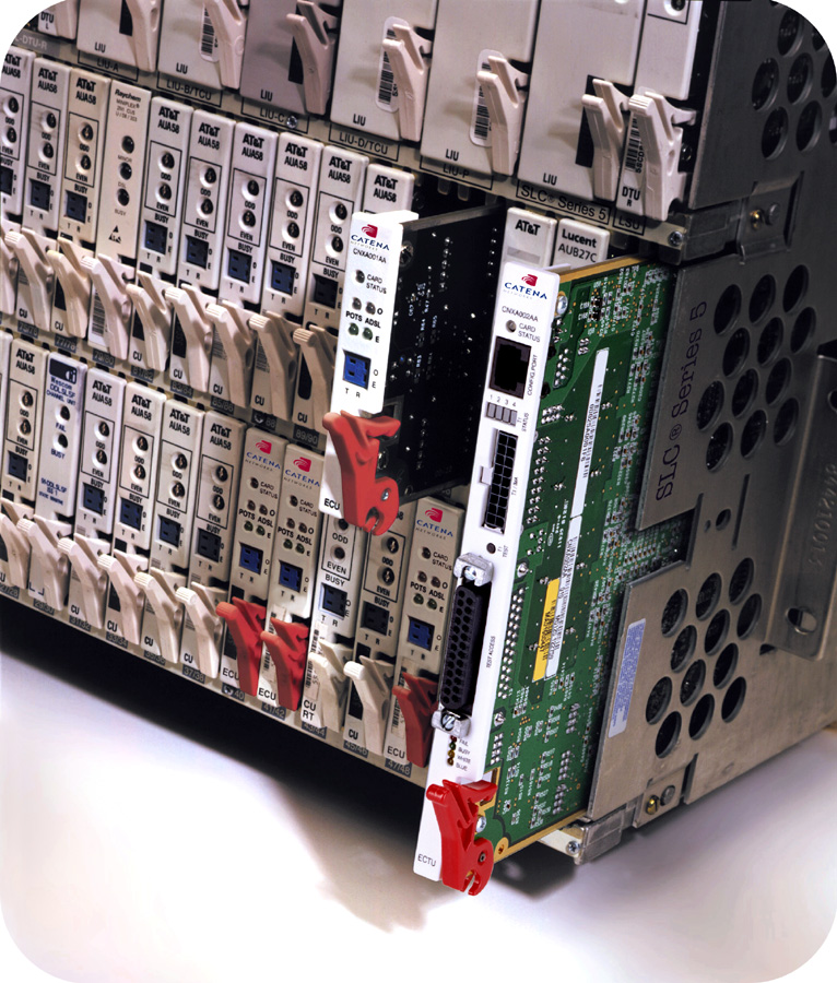 Lucent SLC Series 5 (SLC-5) showing Ciena CBX-5 to provide DSL